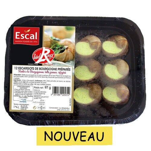 Une boîte avec 12 escargots de Bourgogne