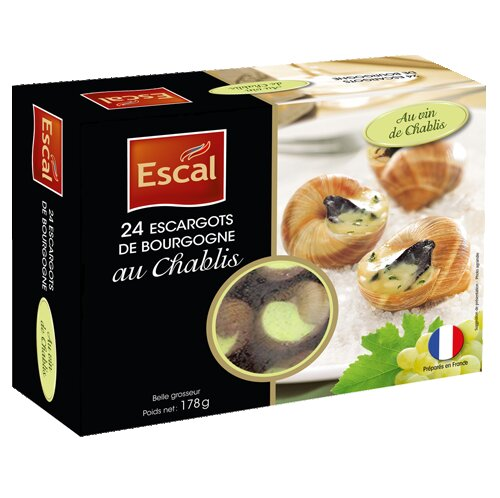 Une boîte de 24 Escargots de Bourgogne au Chablis