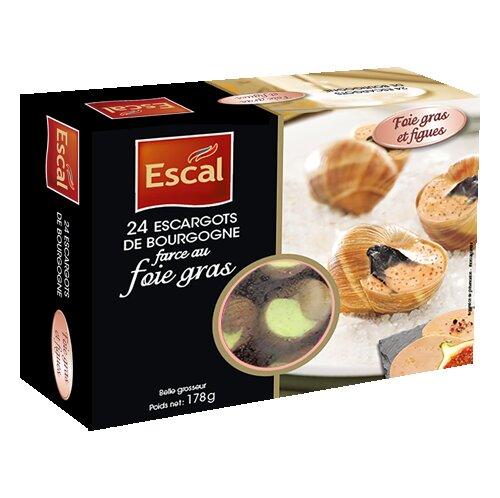 Une bôite de 24 Escargots de Bourgogne au foie gras