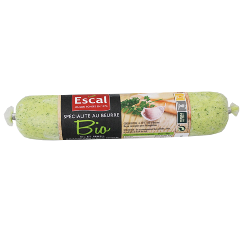Un rouleau du spécialité au beurre bio ail et persil
