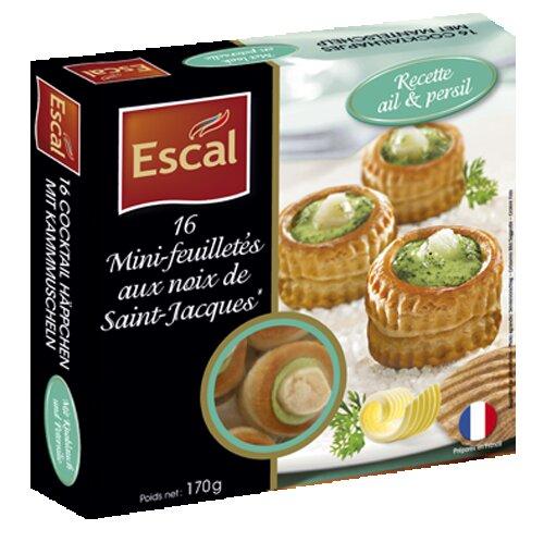 Une boîte de 12 mini feuilletés aux noix de Saint Jacques