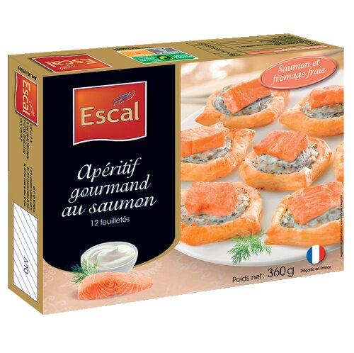 Une boîte de 12 apéritifs gourmands au saumon