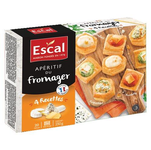 Eine Schachtel mit 20 Blätterteighäppchen mit Käse