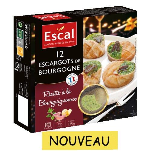 Une boîte de 12 Escargots à la Bourguignonne