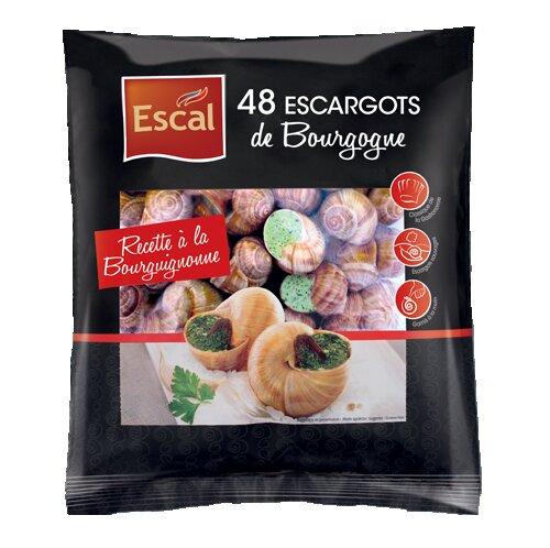 Un sachet de 48 Escargots à la Bourguignonne
