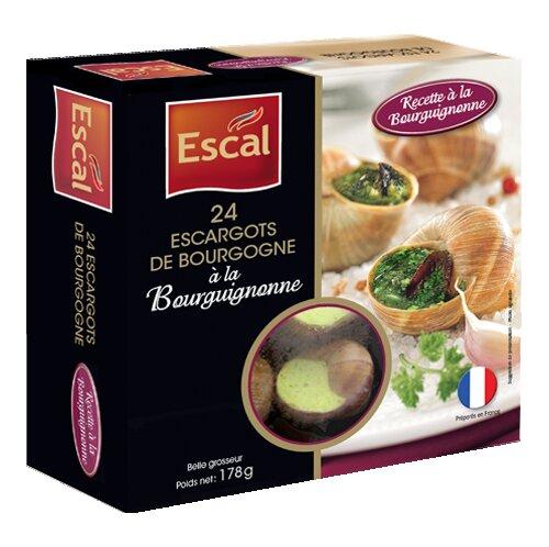 Une boîte de 24 Escargots de Bourgogne à la Bourguignonne