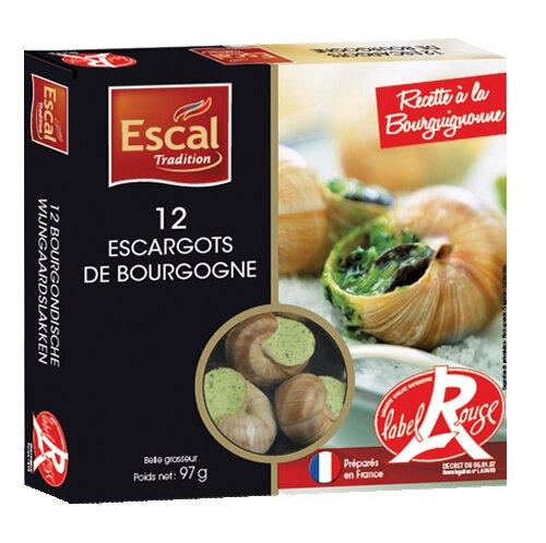 Une boîte de 12 Escargots de Bourgogne Label Rouge