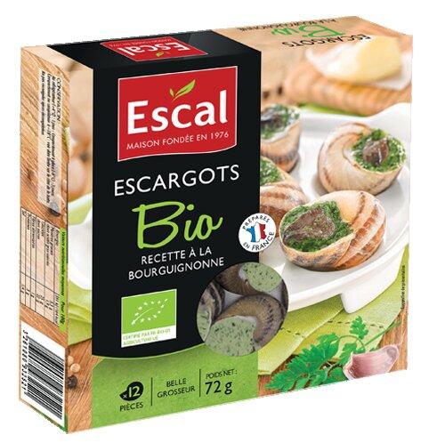 One box with 12 organic escargots