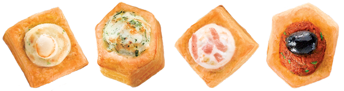 Various puff pastries