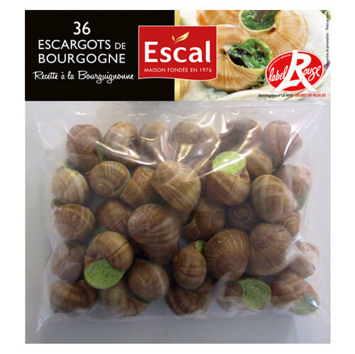 Un sachet de 36 Escargots de Bourgogne Label Rouge