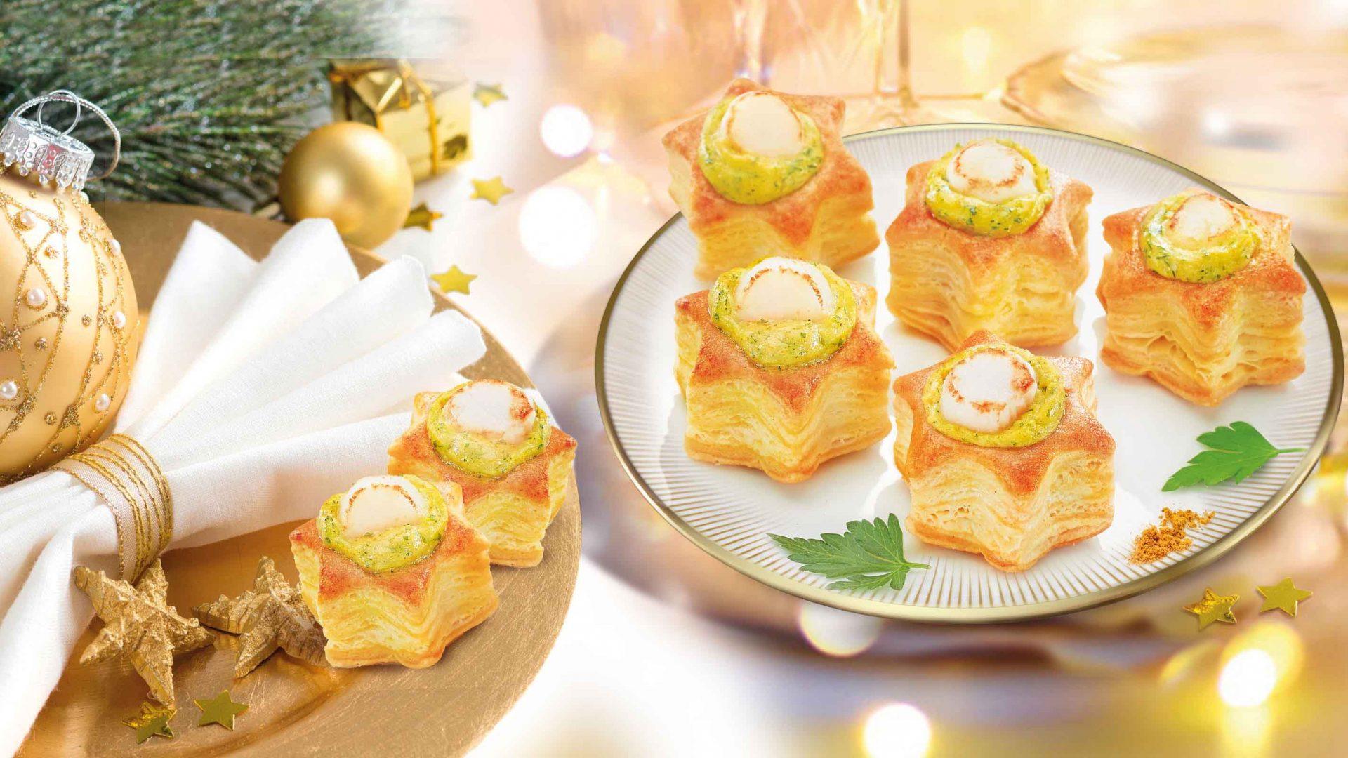 Boîte de 12 mini étoiles aux noix de Saint-Jacques